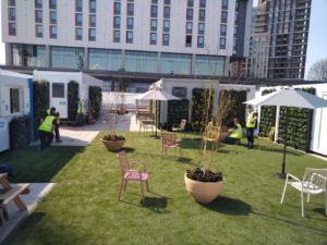 After the installation of the wellbeing garden