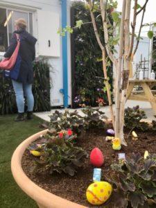 Easter eggs in the Nightingale garden